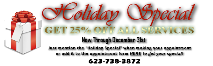 HOLIDAY SPECIAL 25 Percent Off All Services through Dec 31