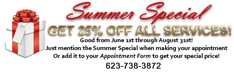 Summer Special - 25% off all Services